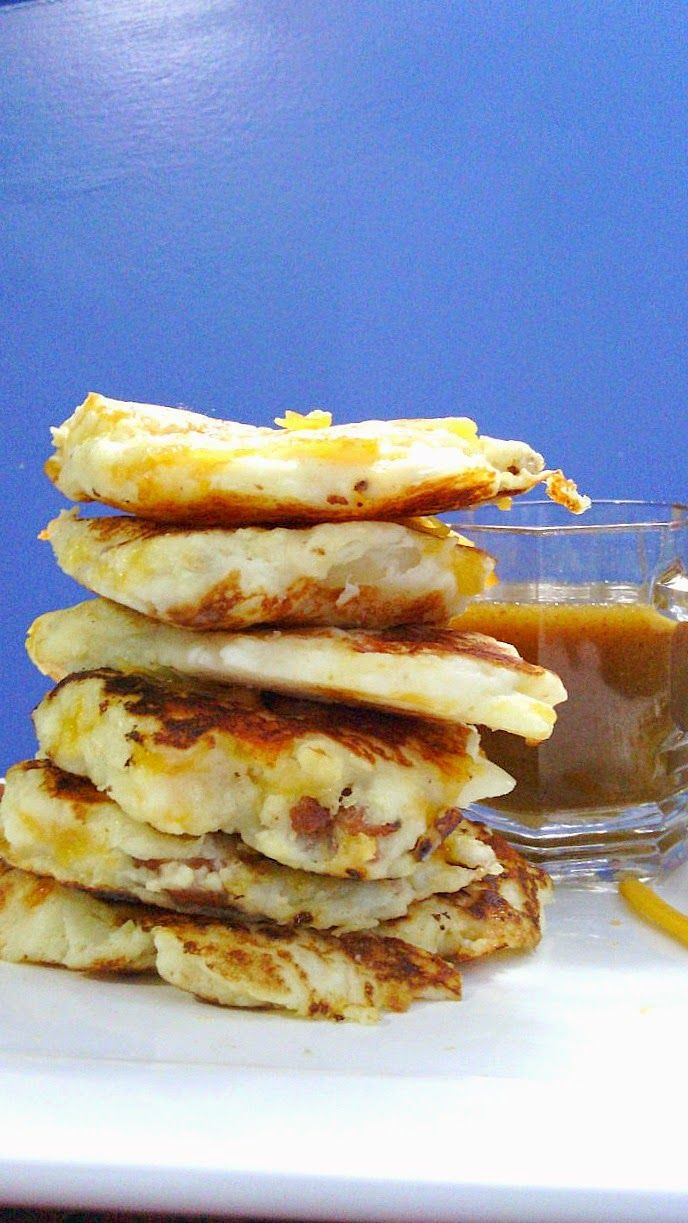 Bacon Cheddar Potato Pancakes with Dijon Maple Syrup #WeekdaySupper ~ Nik Snacks