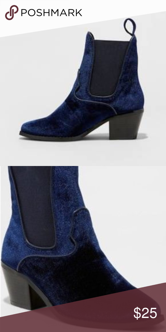 cf15b5381359 NWOT Blue Velvet Tommi Booties NWOT Blue Velvet Tommi Ankle Booties. Soften  up your look