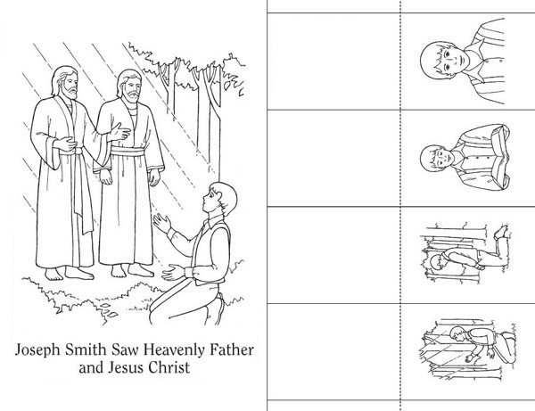 Joseph Smith Saw Heavenly Father And Jesus Christ Coloring Page Netart Coloring Pages Heavenly Father Bear Coloring Pages