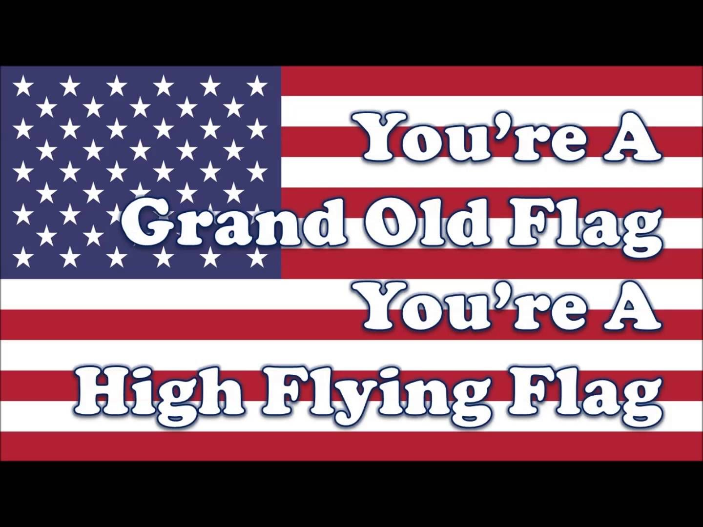 You Re A Grand Old Flag 2016 Updated Sing A Long For Kids Patriotic Songs For Kids Music Lessons For Kids Kindergarten Songs