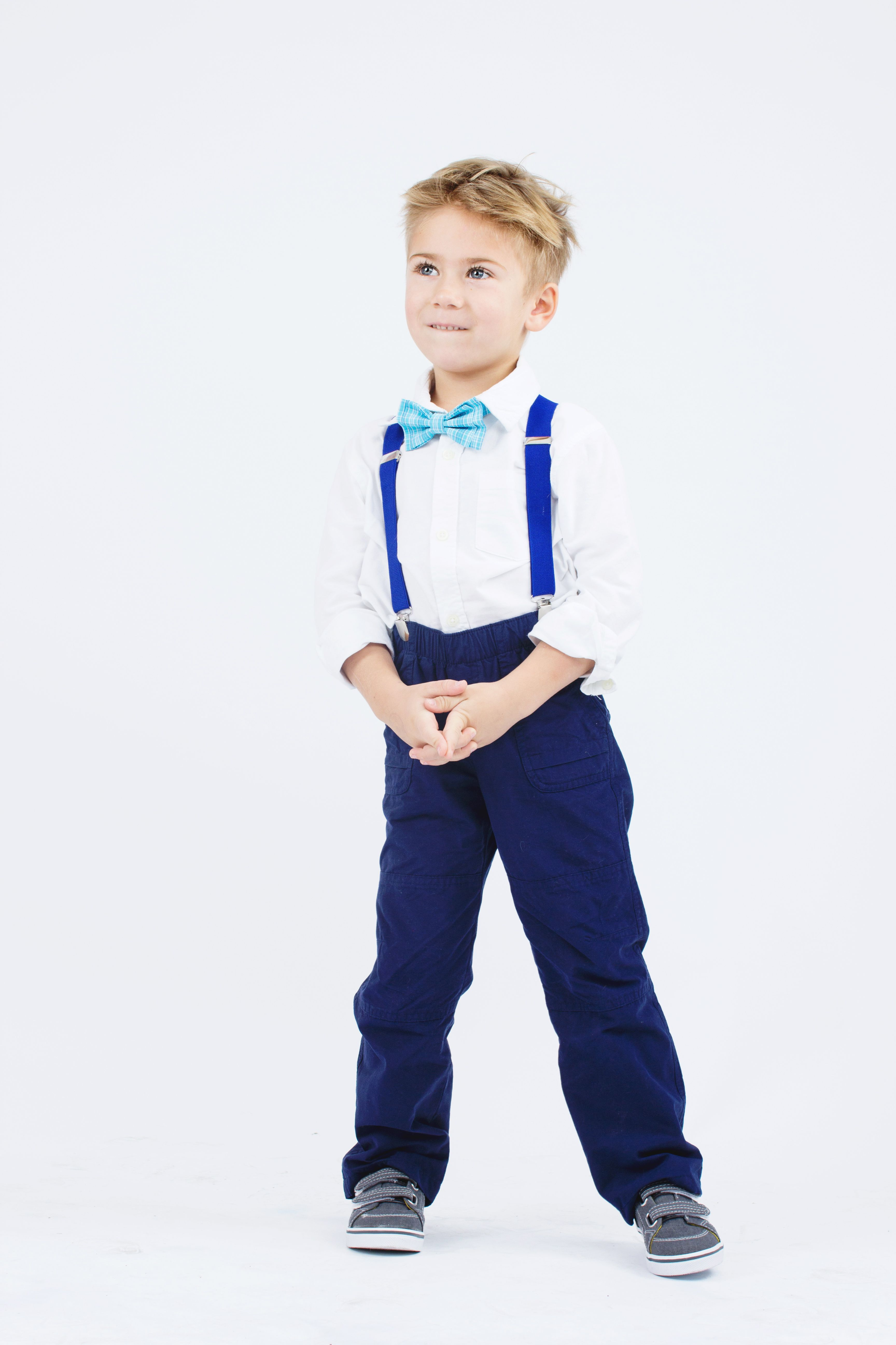 d65bd9d6327e Easter Outfit Ideas for Baby | Toddler | Boy - Sky Blue Bow Tie & Royal Blue  Suspenders #easter #outfits #boy #babyboy #toddler #blue #suspenders #bowtie