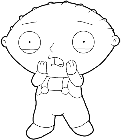 How to Draw Stewie from Family Guy : Step by Step Drawing Lesson ...