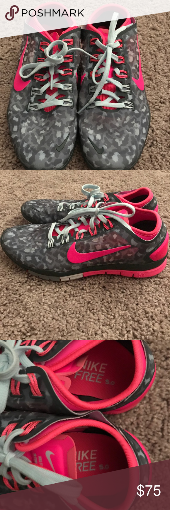 Pink & Grey Nike Shoes