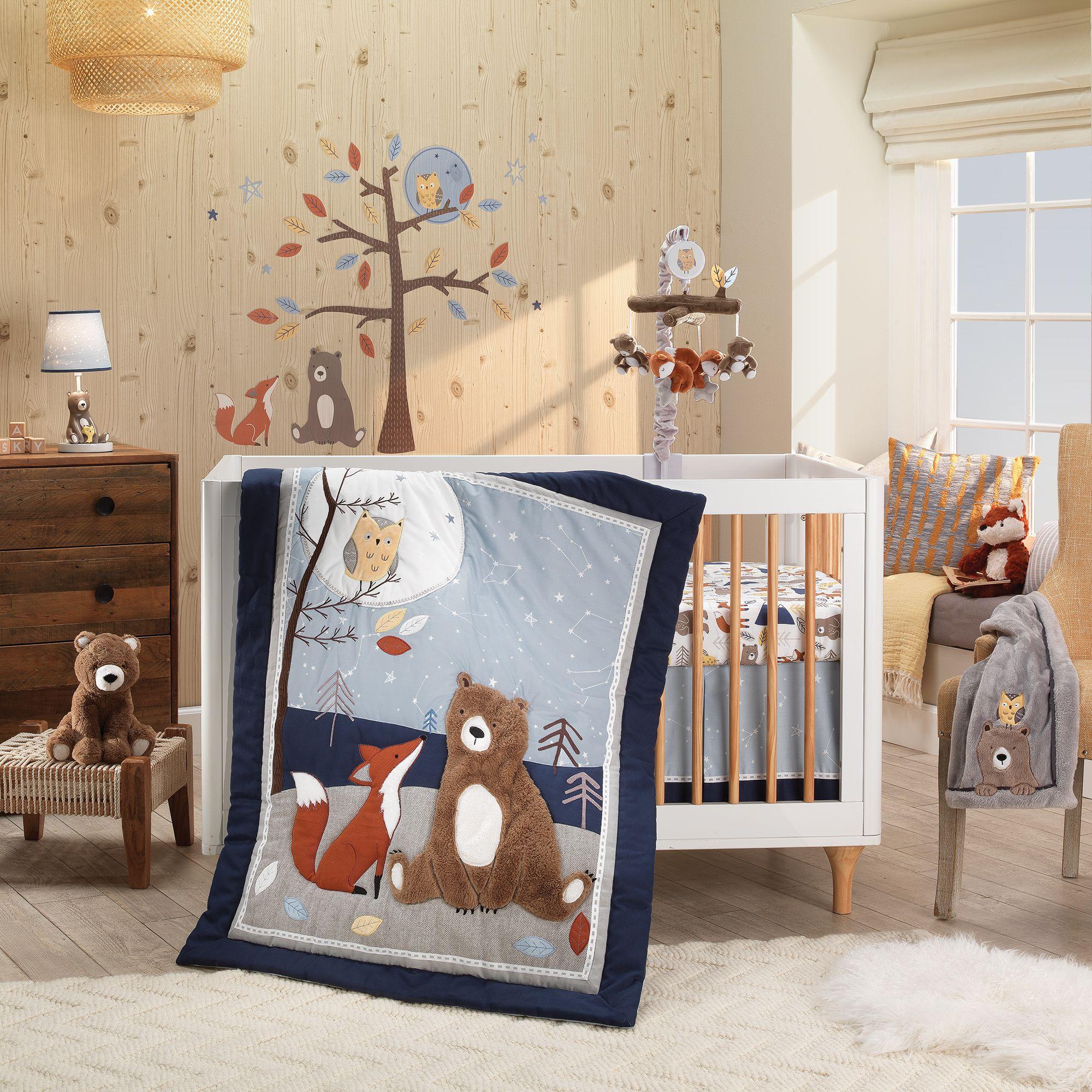 Sierra Sky 3 Piece Crib Bedding Set Baby Crib Bedding Baby Crib Bedding Sets Gray Woodland Nursery