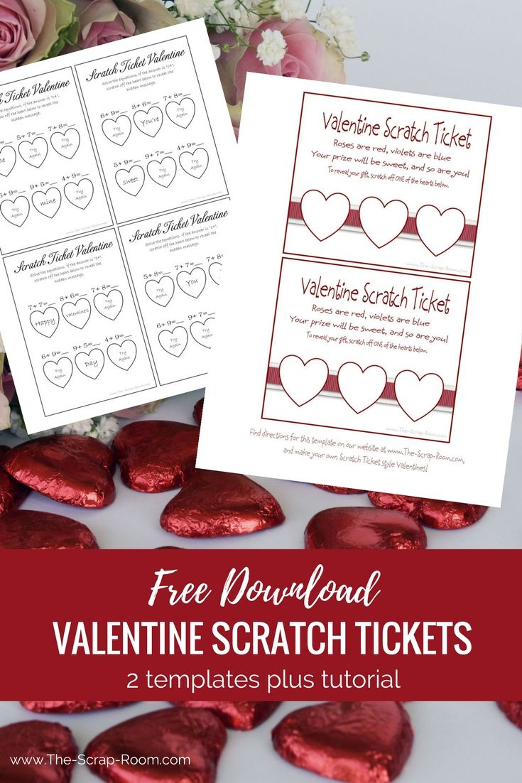 These scratch ticket style Valentines are fun to make and fun to