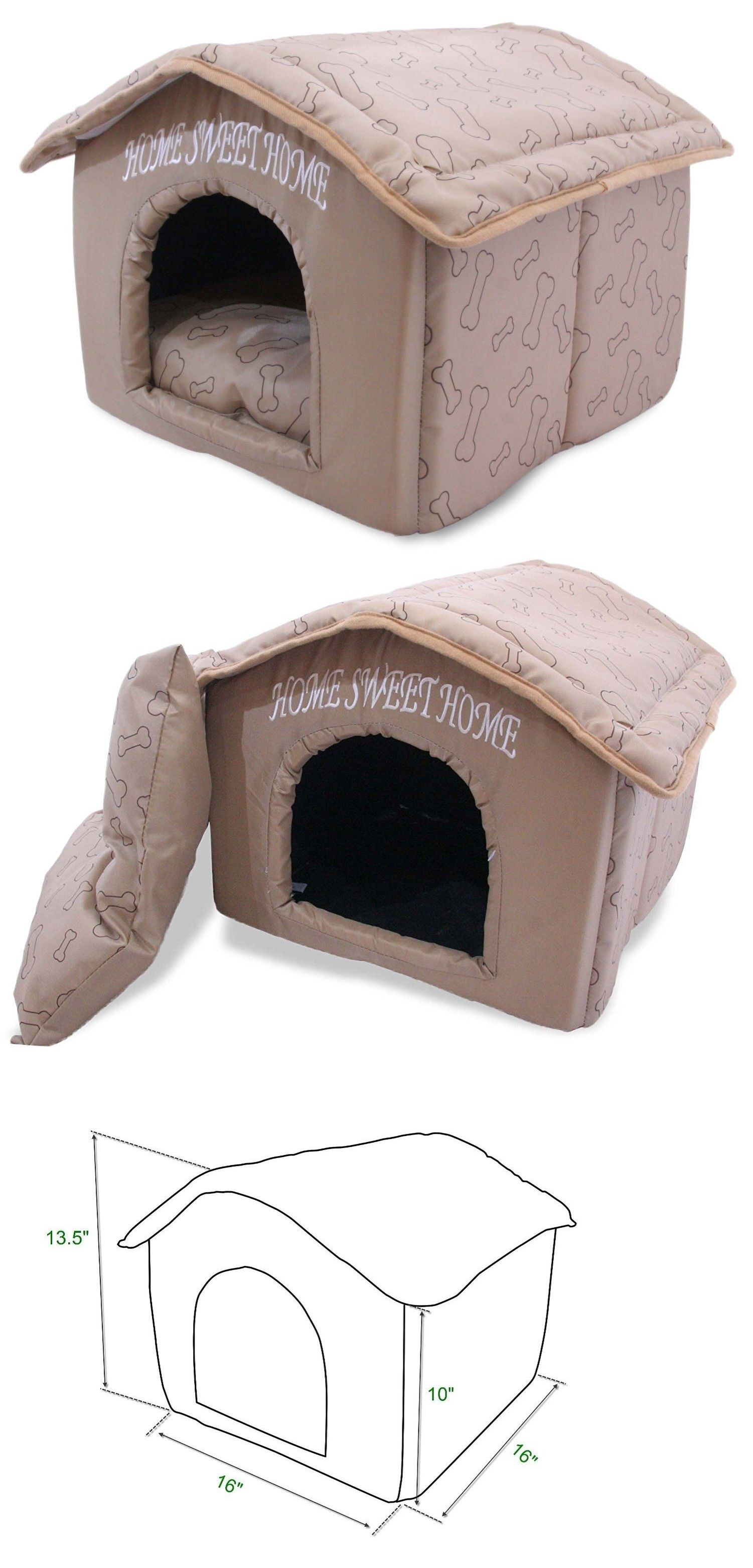 Dog Houses 108884 Indoor Dog House Kennel Plush Warm Portable Pet Bed Washable Small Puppy Cat Buy It Now Only 38 0 Indoor Dog House Small Puppies Dog House [ 3125 x 1501 Pixel ]