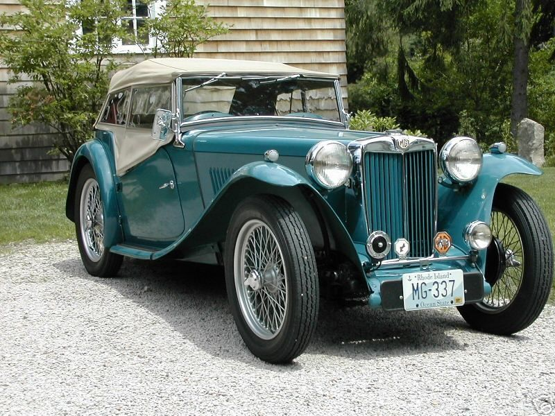 MG TC Roadster - 1949. Oh, dreamy divine road trip with my scarf ...