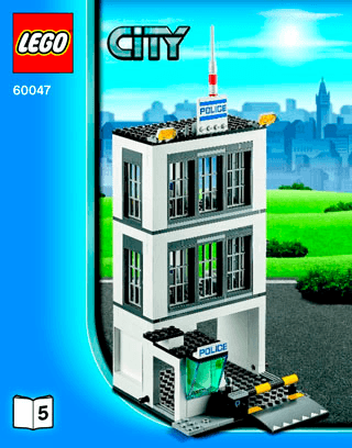 Police Station 60047 Lego City Police Building Instructions