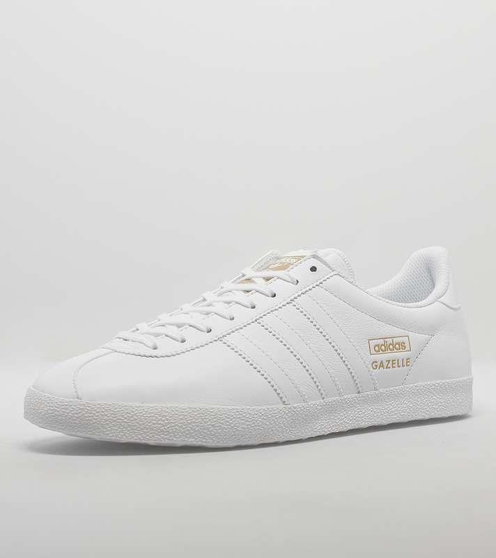 adidas Originals Gazelle OG Leather | Size? | Adidas gazelle white ...