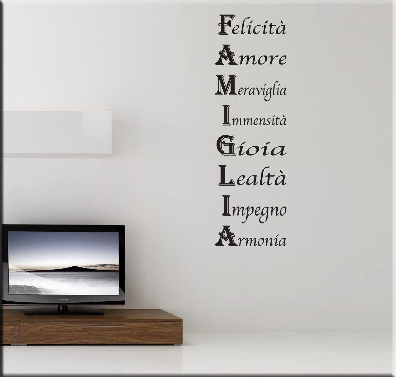 Essebi adesivi murali acrostico famiglia wall stickers for Stickers per cucina