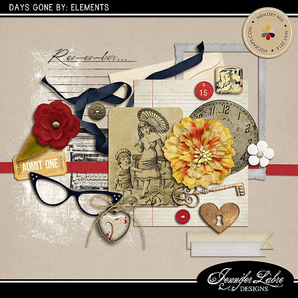 Days Gone By: Elements :: Elements :: Memory Scraps