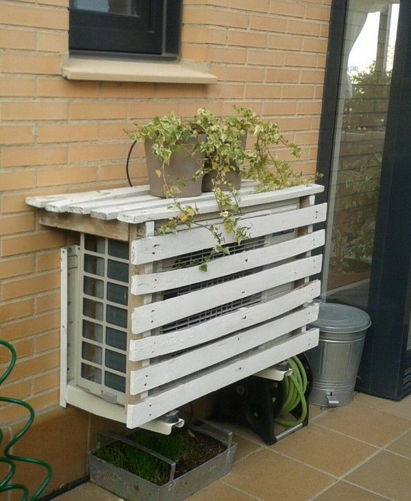 Ocultar el aire acondicionado pinteres - Tapar barandilla balcon ...