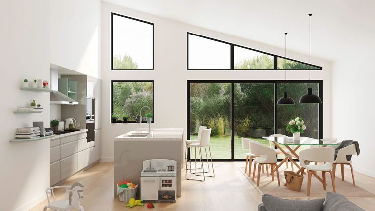 Zoom sur les nouvelles cuisines But - En photo  la cuisine ouverte - cuisine ouverte ilot central