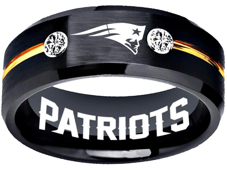 New England Patirots Ring Patriots Logo black and gold