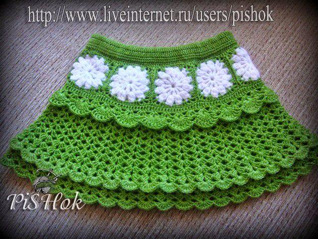 Faldas para niñas tejidas al crochet con patrones | Crochet Baby ...