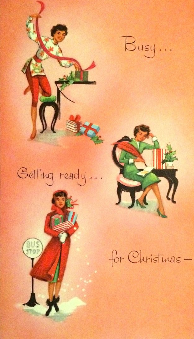 TRUTH Christmas cards, 1950s and Africans