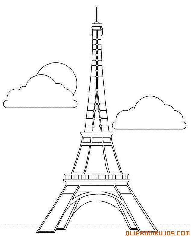 Dibujos Para Colorear De La Torre Eiffel | DIBUJOS TORRE EIFEL ...