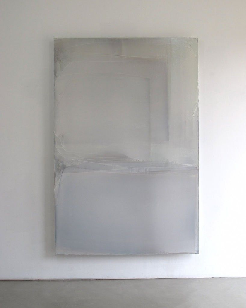 Untitled White Composition ('Burgundy Light'), 2010-2012 • Kremer pigment and acrylic on aluminium dibond, 225 x 150 cm