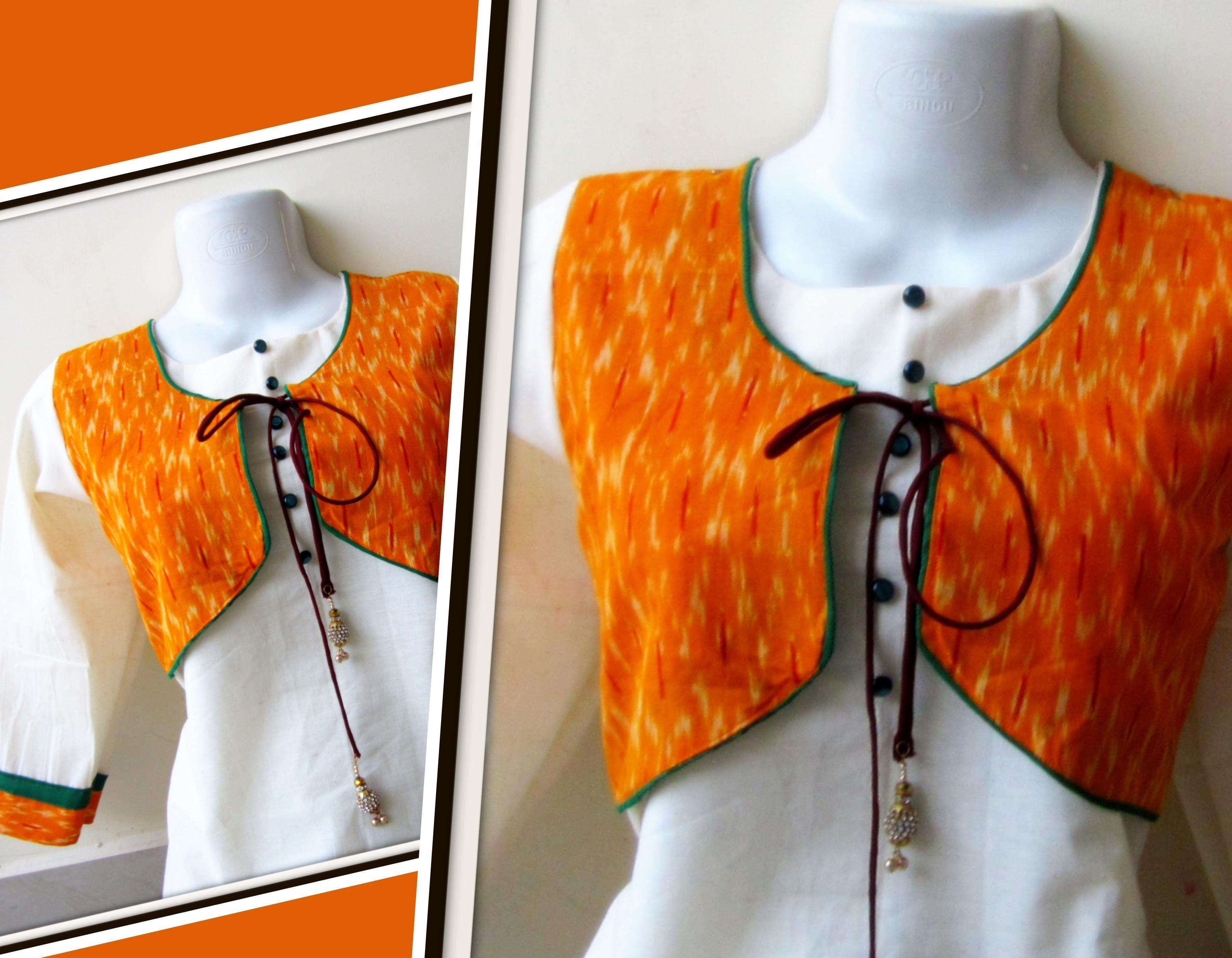Jacket Style Kurti Easy Marking Cutting Sewing Sewing