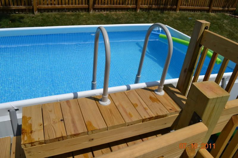 Pics Finished Intex Ultraframe Rectangular 18x9 With Deck