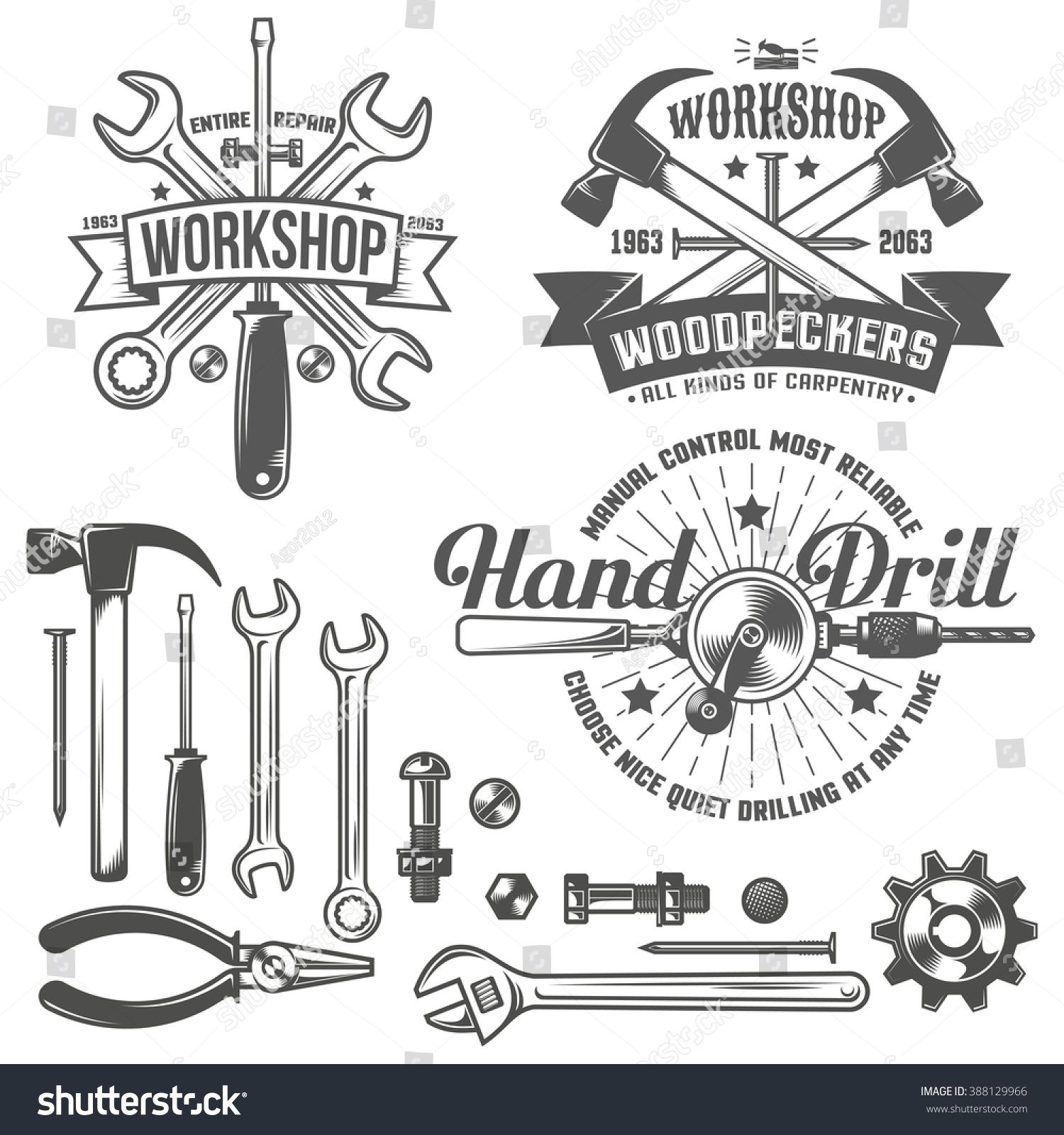 Vintage Retro Emblem Repair Workshop And Tool Shop Working Tools Text On A Separate Layer Easy To Replace Sponso In 2020 Mechanics Logo Branding Shop Retro Logo