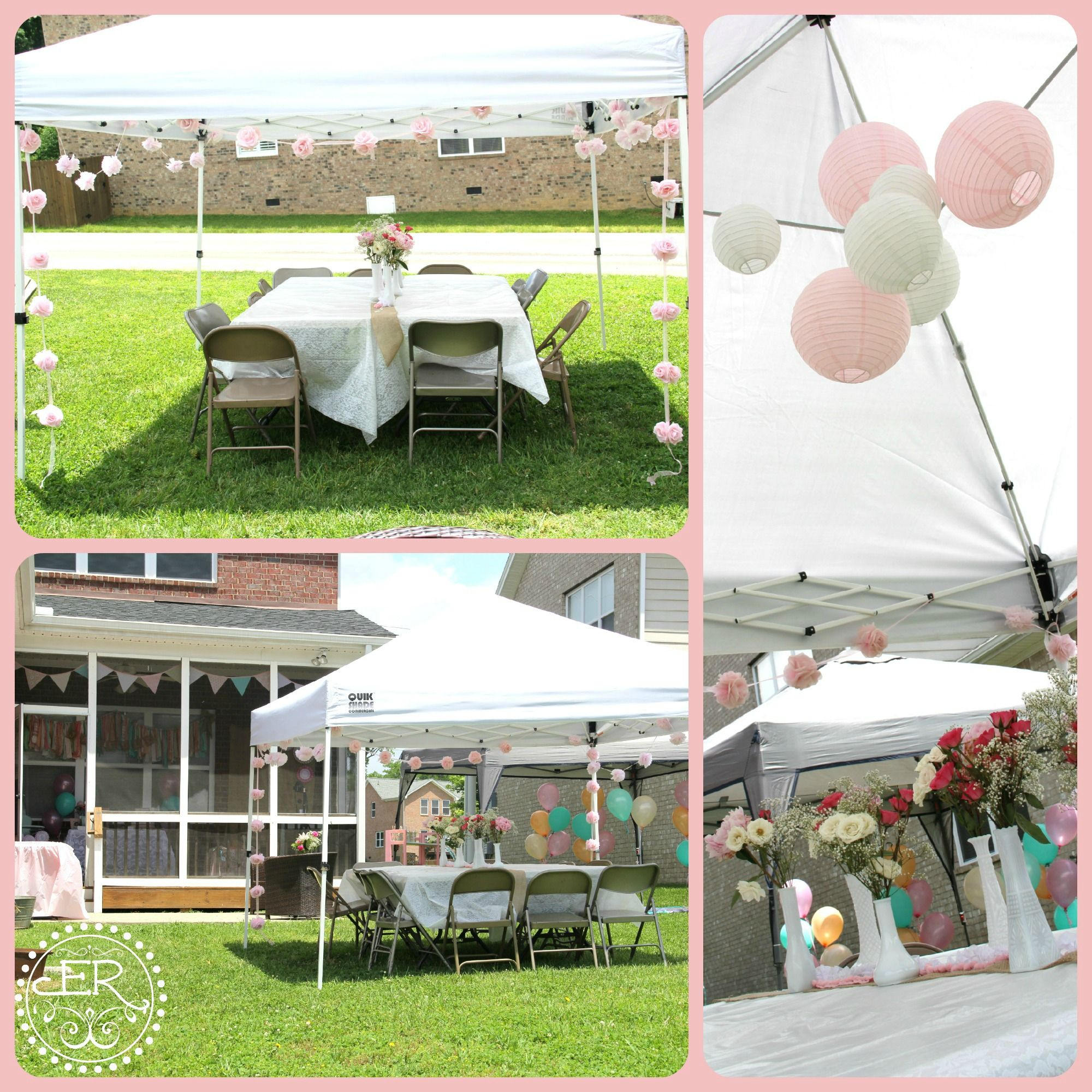 The adult/eating tent  sc 1 st  Pinterest & The adult/eating tent | Janelleu0027s 1st Bday- Shabby Chic Cookout ...