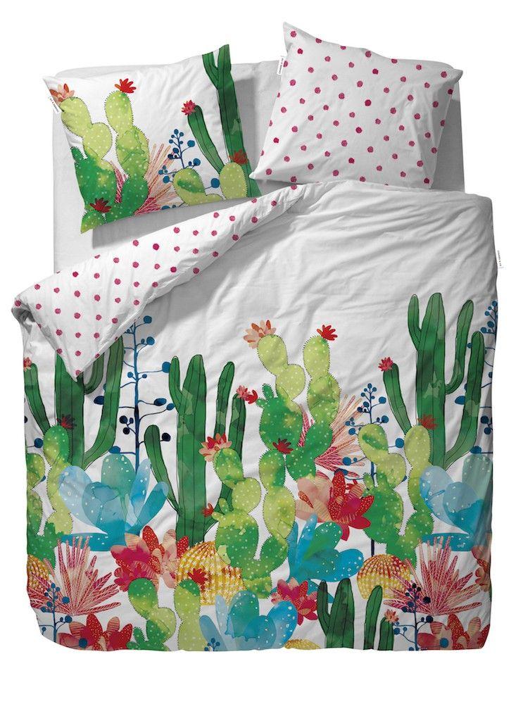 Covers&Co Bettwäsche Cactus multi bunt Kaktus Kakteen Blumen Kinder ...