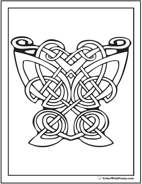 Celtic Art Coloring Page Peacock Bird Designs