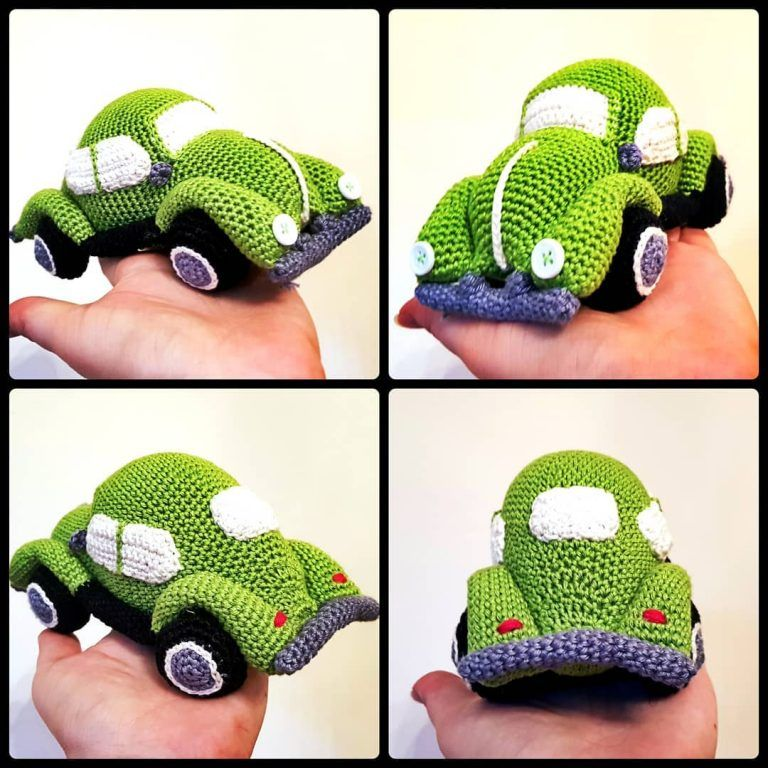 Crochet Car Applique Tutorial - YouTube | 768x768