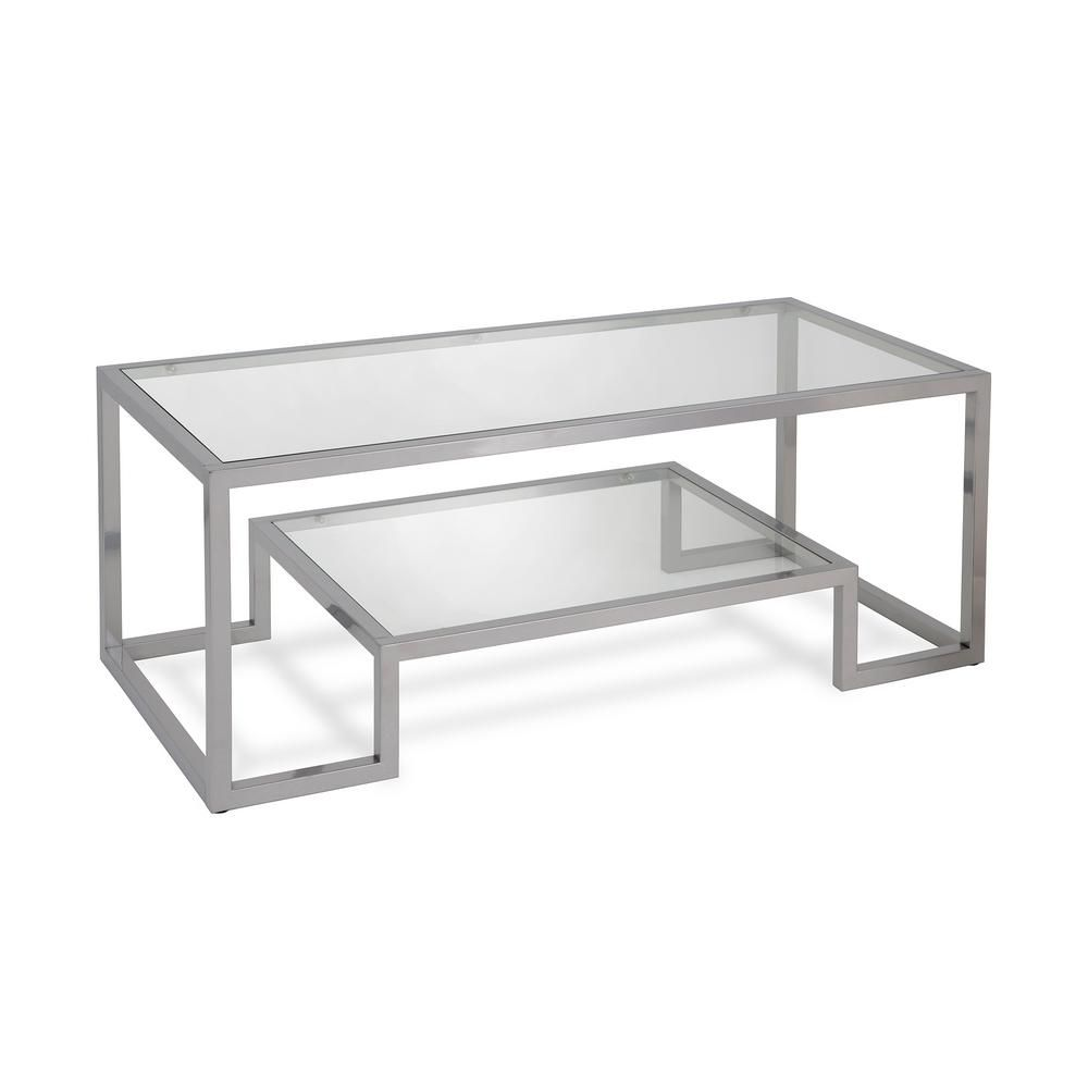 Meyer Cross Athena 17 In Nickel Coffee Table Ct0065 The Home Depot In 2020 Geometric Coffee Table Modern Glass Coffee Table Glass Coffee Table [ 1000 x 1000 Pixel ]