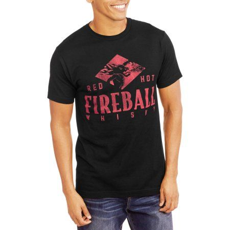 Fireball Whiskey Men's Red Hot Graphic Tee, Size: Small, Black