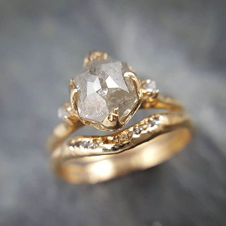 30 Unique Raw, Rustic, and Rough Diamond Engagement Rings