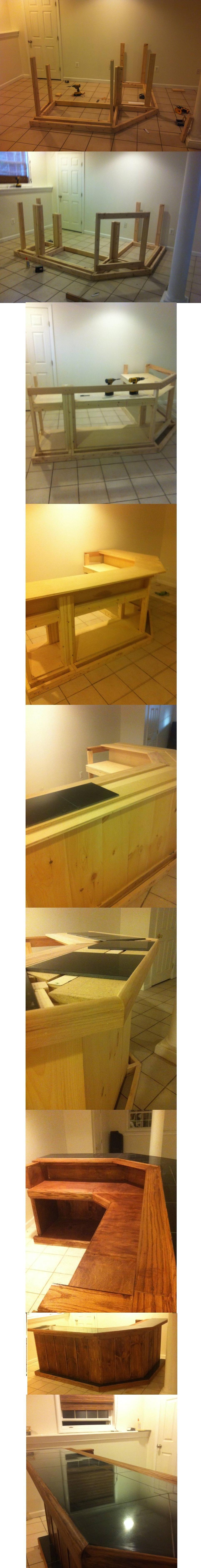 Homemade bar (First big project!) | Basements, Homemade and Bar