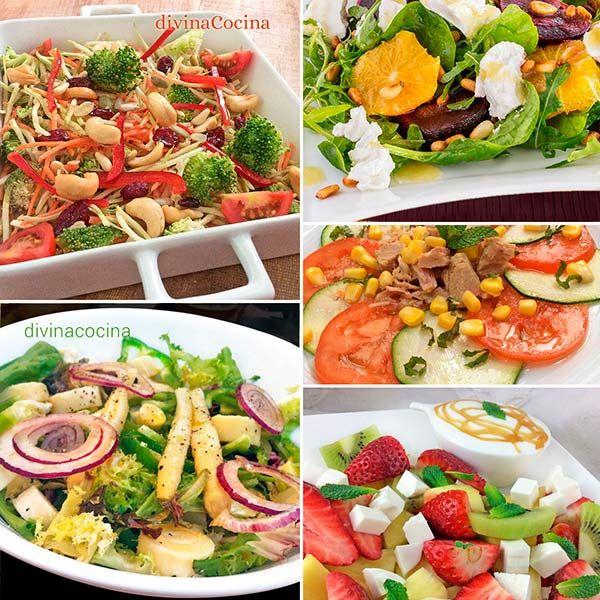 Recetas de 7 ensaladas bajas en calor as a ensalada - Comidas sanas y bajas en calorias ...