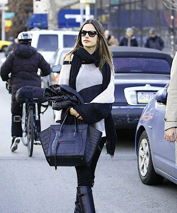 Celebrities and their Celine Luggage Totes  A Retrospective. Alessandra  Ambrosio s Celine Phantom Luggage Tote a0e4bccc19