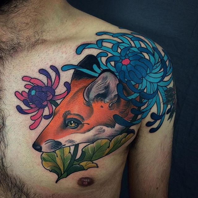 Owen smashed it yesterday getting this done in one hit. Thanks bro! For appointments info@cloakanddaggerlondon.co.uk *********************************************** #fox #foxtattoo #tattoo #tattoos #shoreditch #bricklane