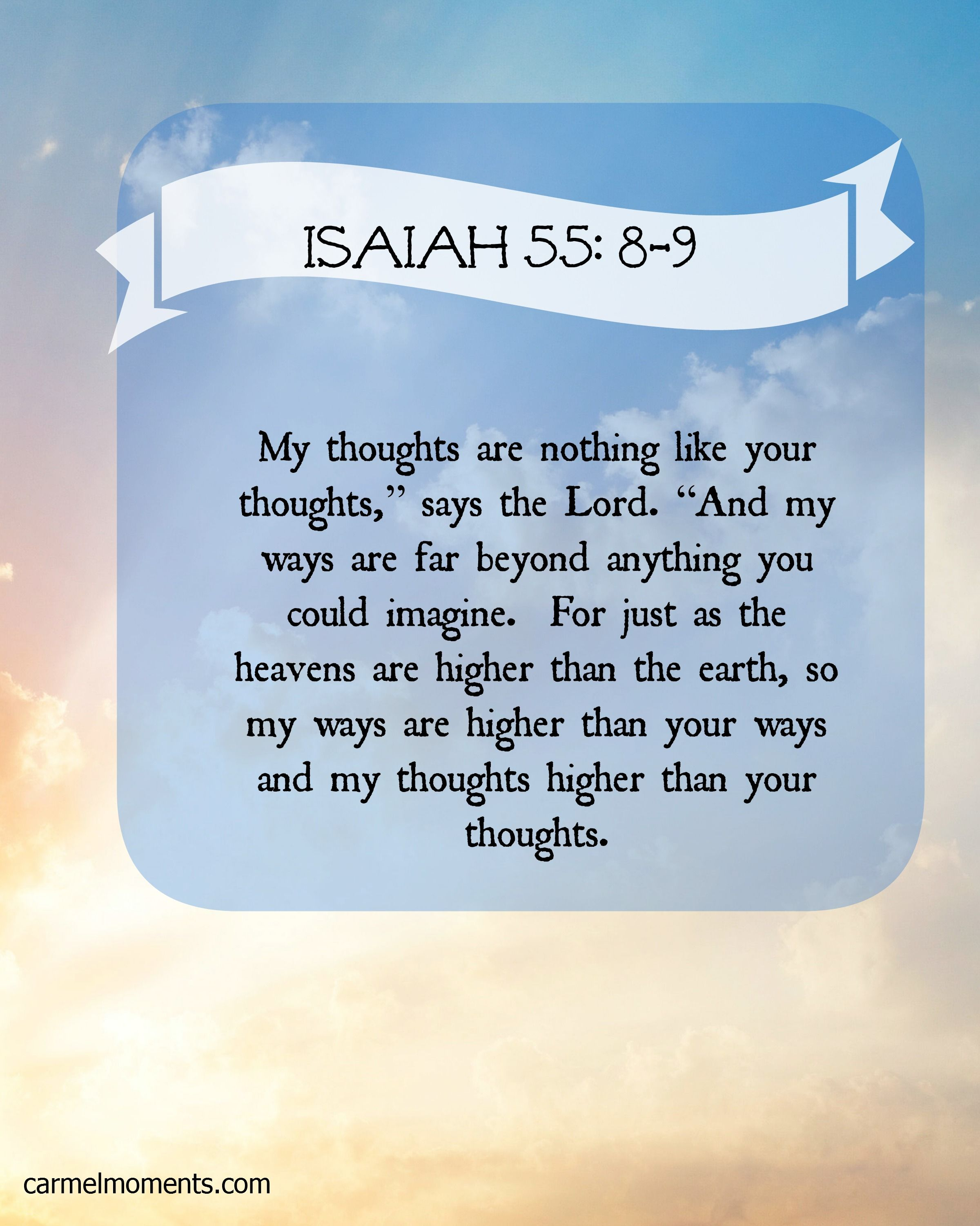 Image result for Isaiah 55:8-9