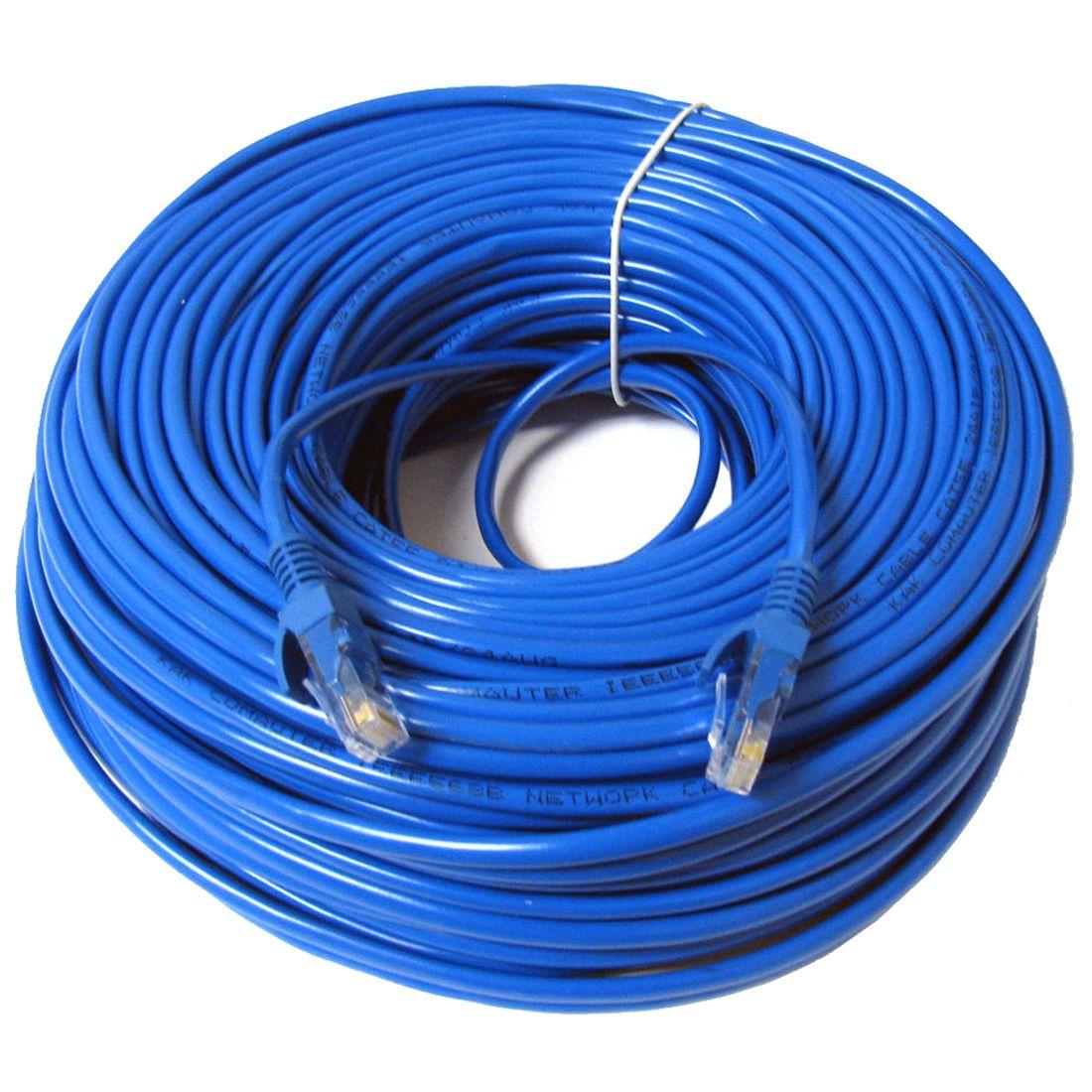 Rj45イーサネットcat5ネットワークケーブルlanパッチリード、30メートルブルー1ピース Network