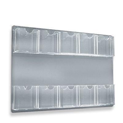 15 3 4 X 23 3 4 10 Pocket Wall Mount Acrylic Brochure Holder Clear Brochure Holders Wall Display Clear Acrylic
