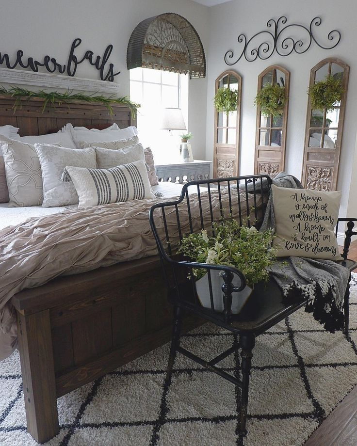 13+ Farmhouse Bedroom Design and Decor Ideas Farmhouse