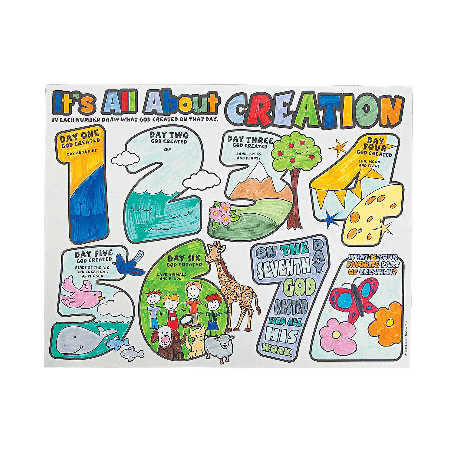 Preschool Music Camp Color Your Own All About Creation Posters