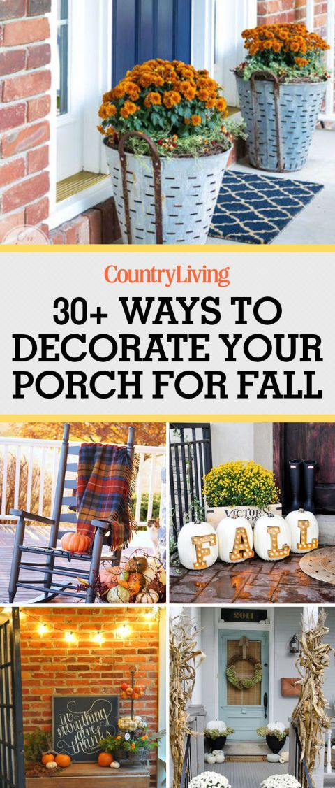 55 Best Fall Porch Decorating Ideas Featuring All the Colors of the Season #falldecor