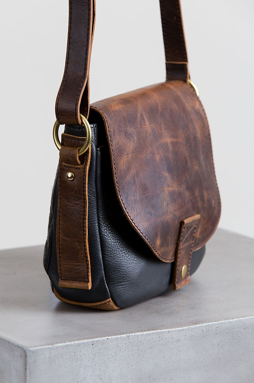 The rich contrast of two-tone leathers makes the Phoebe Leather Crossbody  Handbag an exceptional design. Free shipping returns. 0788d0cbef969
