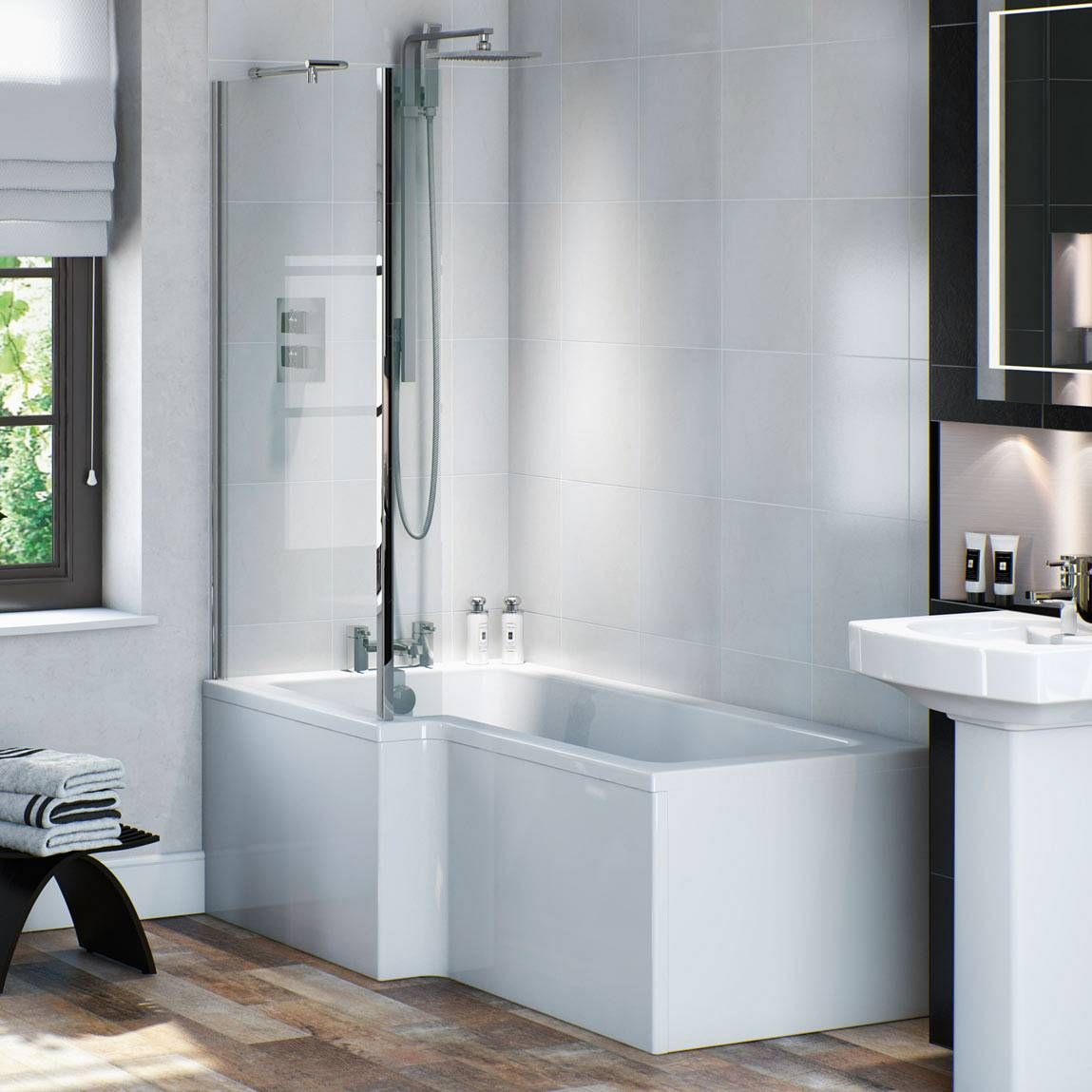 Modern bath and shower options | Bath, Victorian terrace and Girl ...