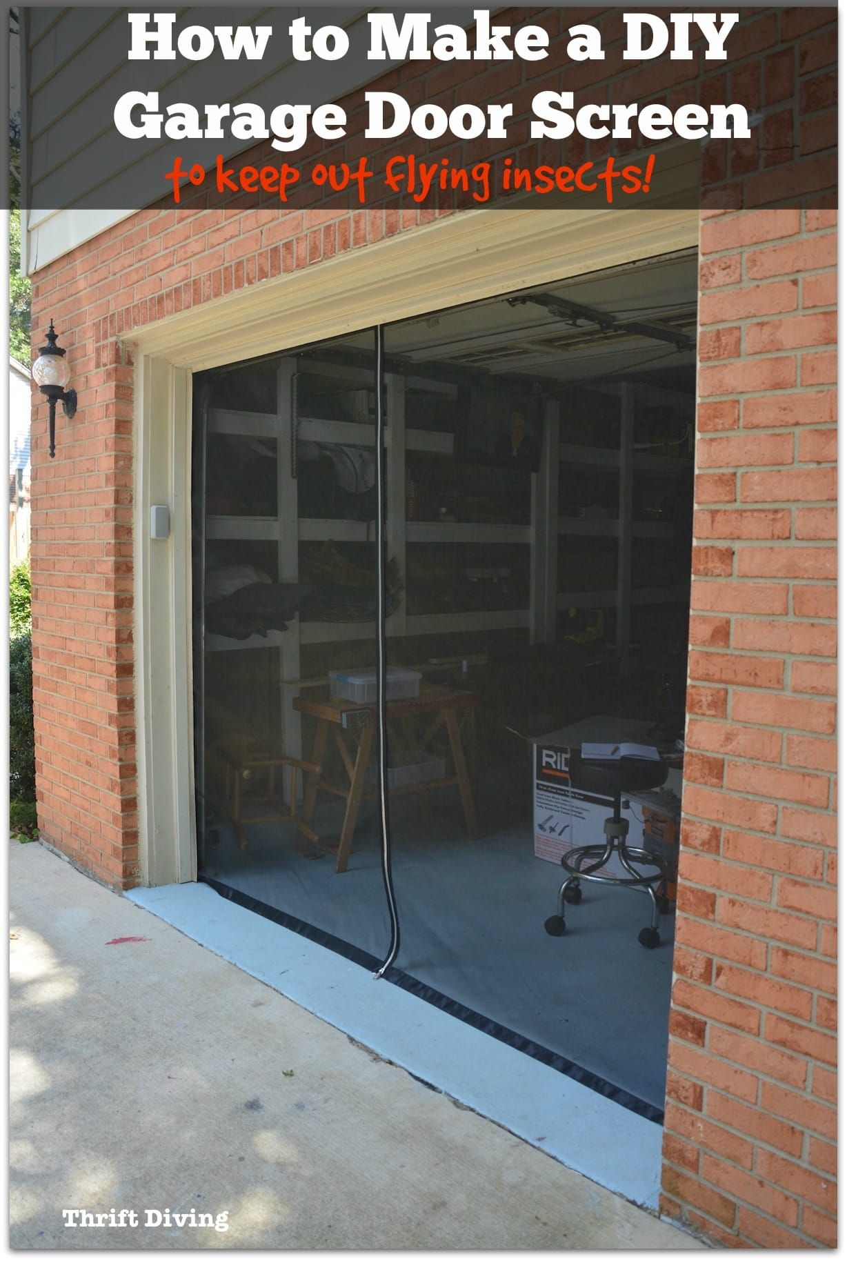 How To Make A Diy Garage Door Screen With A Zipper Garage Screen Door Diy Garage Door Diy Screen Door