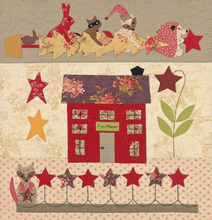 A block in the A Woodland Christmas Block of the Month by Bunny Hill Designs