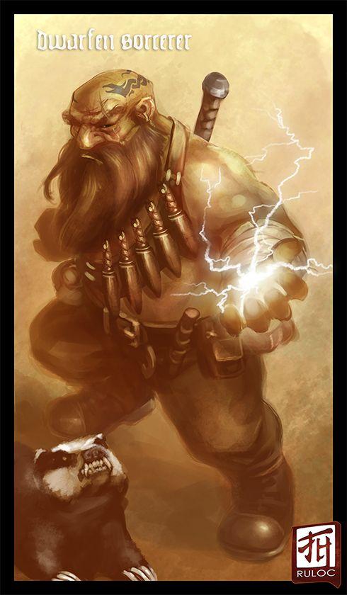 Classificação de relevância 3 _____________________________ Palavras-chave: Fantasia medieval, caçador, anão, aventureiro, ranger, poderes, companheiro animal. _____________________________ Essa imagem é de extrema importância pois ela foi feita de maneira inovadora em relação a linguagem visual usada para ilustrações do tema fantasia medieval. O traço desta é pictorio realista, enquanto das outras é estilo computer arts. _____________________________ www.deviantart.com/
