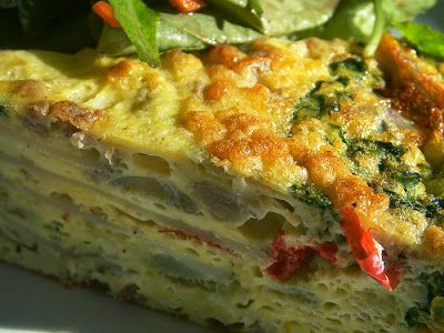 Layered Egg and Cheese Frittata