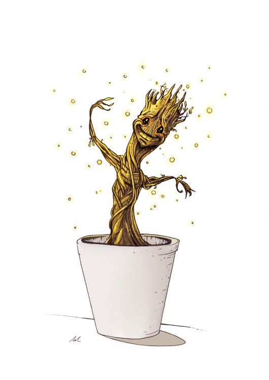 Baby Groot from Guardians of the Galaxy Limited Print Fan ...