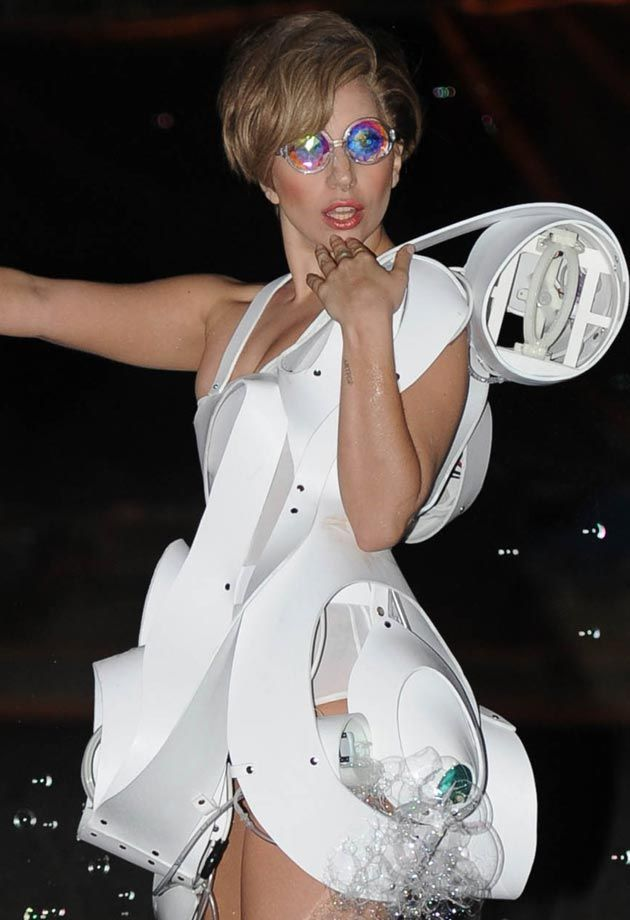 Necessary Lady gaga bubble dress